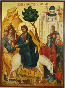 Palm Sunday Jesus on the Donkey Entering Jerusalem